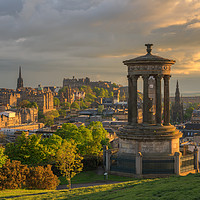 Buy canvas prints of Edinburgh at Sunset from Calton Hill by Miles Gray