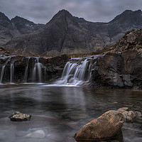 Buy canvas prints of The Fairy Pools at sunrise by Miles Gray