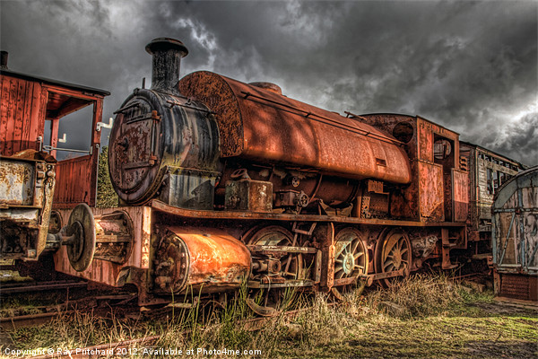 HDR Old Steam Train Canvas print by Ray Pritchard