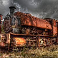 Buy canvas prints of HDR Old Steam Train by Ray Pritchard