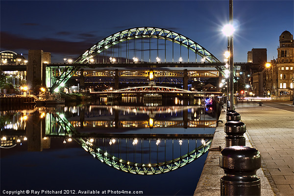 Tyne Bridge At Newcastle Canvas Print by Ray Pritchard
