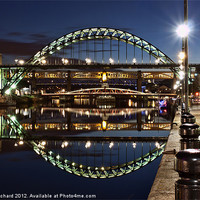 Buy canvas prints of Tyne Bridge At Newcastle by Ray Pritchard