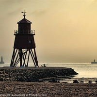 Buy canvas prints of Early Morning at South Shields by Ray Pritchard