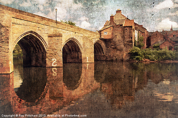 Elvet Bridge at Durham Canvas print by Ray Pritchard