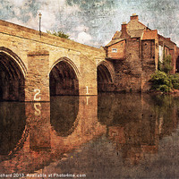Buy canvas prints of Elvet Bridge at Durham by Ray Pritchard