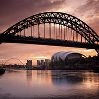 Buy canvas prints of Sunrise Over Tyne Bridge by Ray Pritchard