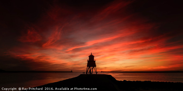 Sunrise at South Shields Canvas Print by Ray Pritchard