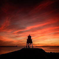 Buy canvas prints of Sunrise at South Shields by Ray Pritchard