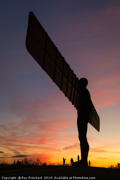 Angel Sunset Canvas print by Ray Pritchard
