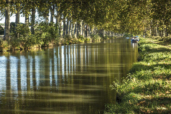Canal Du Midi Framed Mounted Print by Linda Corcoran LRPS CPAGB