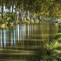 Buy canvas prints of  Canal Du Midi by Linda Corcoran LRPS CPAGB