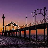 Buy canvas prints of Jetty Sunset by Linda Corcoran LRPS CPAGB
