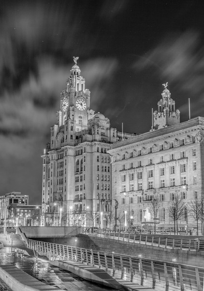 Liver Building Night Time Long Exposure Canvas print by James Harrison