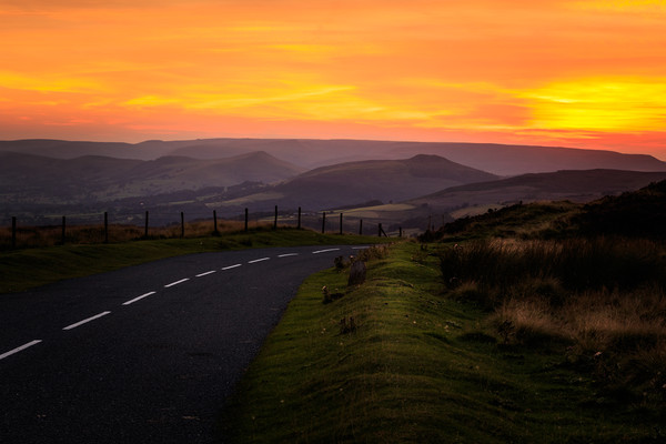 Peak district Sunset  Canvas print by chris smith