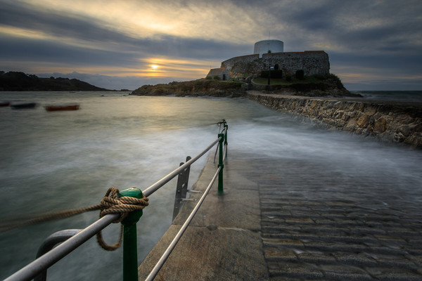 Fort grey Guernsey   Framed Mounted Print by chris smith