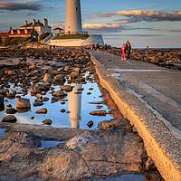 Buy canvas prints of st marys lighthouse  by chris smith