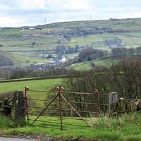 Buy canvas prints of Farm gate  by chris smith