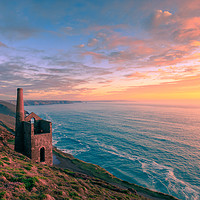 Buy canvas prints of  Wheal Coates tin mine   by chris smith