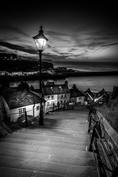 199 steps whitby  Canvas print by chris smith