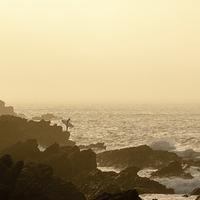 Buy canvas prints of  Sunset Surf by Matt Menhenett