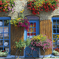 Buy canvas prints of Colourful Boutique,France. by Philip Enticknap