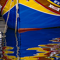 """Buy canvas prints of Traditional Fishing Boat, """" Luzzuis """" Malta. by Philip Enticknap"""