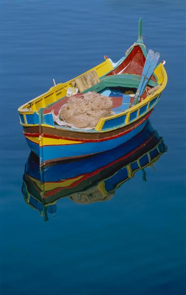 Rowing boat MALTA Canvas print by Philip Enticknap
