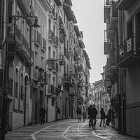 Buy canvas prints of Street Sceane Pamplona Old Town.Navarra Spain by Philip Enticknap