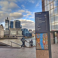 Buy canvas prints of London Bridge Serenity by Zahra Majid