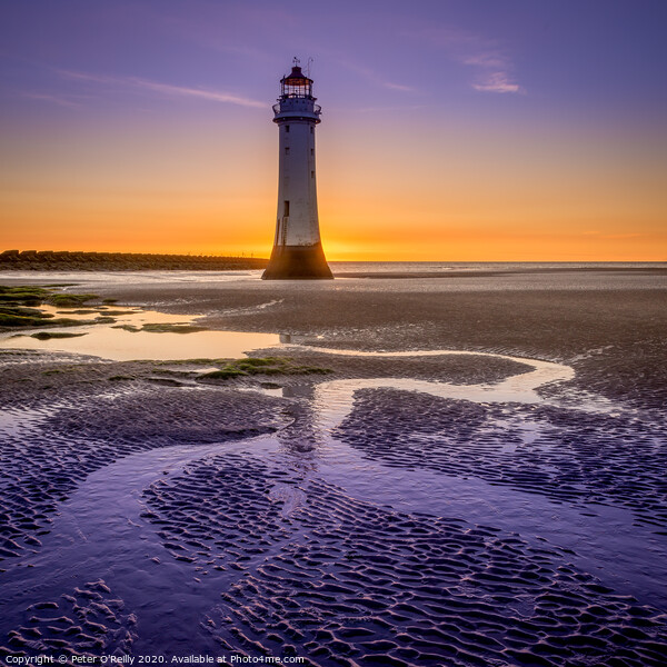 New Brighton Lighthouse  Print by Peter O'Reilly