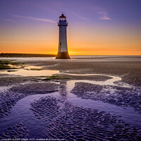 Buy canvas prints of New Brighton Lighthouse  by Peter O'Reilly