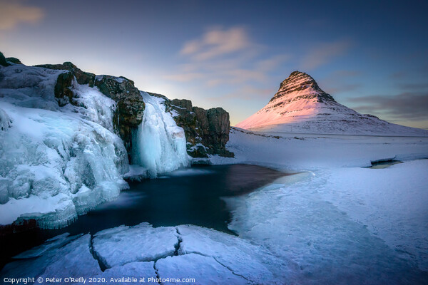 Kirkjufell at Sunset Print by Peter O'Reilly