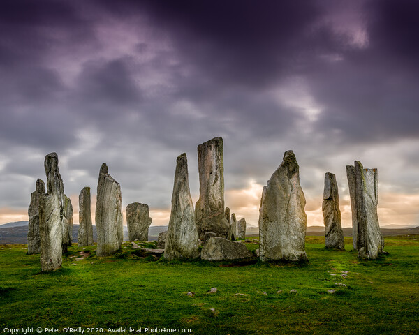 Callanish Standing Stones Print by Peter O'Reilly