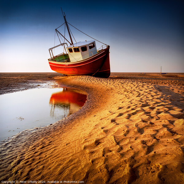 Low Tide Print by Peter O'Reilly