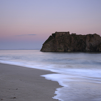 Buy canvas prints of Tenby, St Catherines Island. by Andrew Bartlett