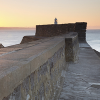 Buy canvas prints of Porthcawl sunrise by Andrew Bartlett