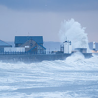 Buy canvas prints of Stormy weather at Porthcawl, South Wales, UK by Andrew Bartlett