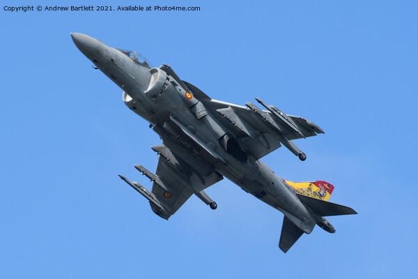 Spanish Navy EAV-8B Harrier II Framed Mounted Print by Andrew Bartlett