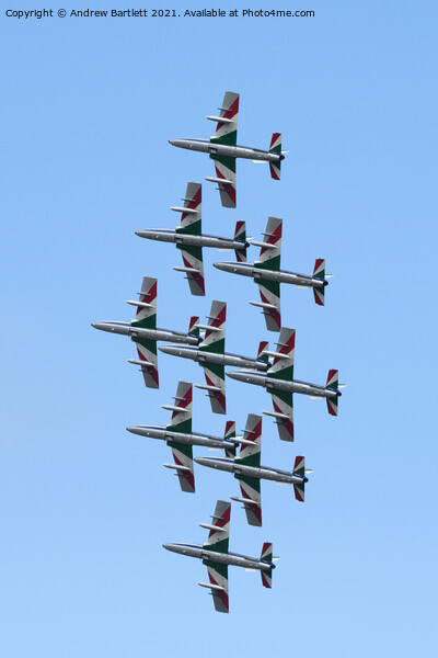 The Frecce Tricolori  Print by Andrew Bartlett