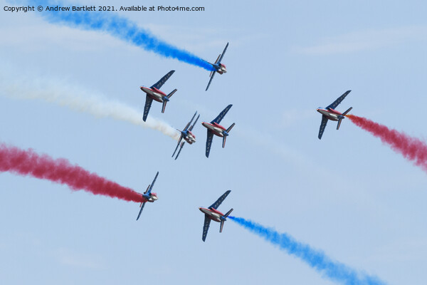The Patrouille de France Canvas Print by Andrew Bartlett