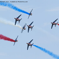 Buy canvas prints of The Patrouille de France by Andrew Bartlett