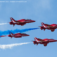 Buy canvas prints of RAF Red Arrows by Andrew Bartlett