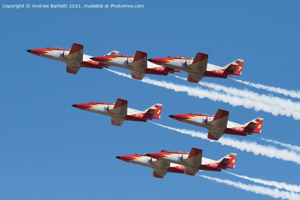 Patrulla Aguila, Spanish Air Force, C101 Aviojet Framed Mounted Print by Andrew Bartlett
