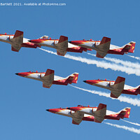 Buy canvas prints of Patrulla Aguila, Spanish Air Force, C101 Aviojet by Andrew Bartlett