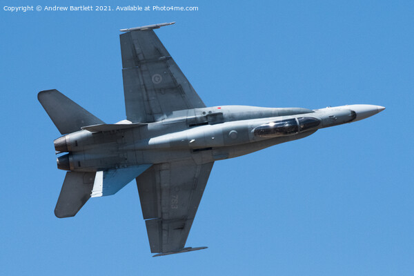 Royal Canadian Air Force, CF18 Hornet  Print by Andrew Bartlett