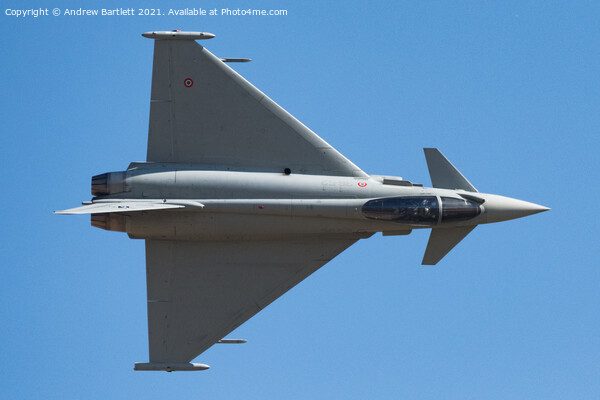 Eurofighter F-2000A Typhoon, Italian Air Force, RSV. Acrylic by Andrew Bartlett