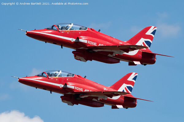 The Red Arrows Acrylic by Andrew Bartlett