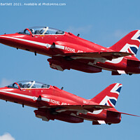 Buy canvas prints of The Red Arrows by Andrew Bartlett