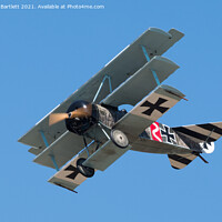 Buy canvas prints of Fokker Dr1 Triplane by Andrew Bartlett