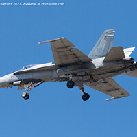 Buy canvas prints of Royal Canadian Air Force, CF18 Hornet by Andrew Bartlett